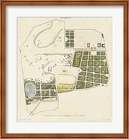 Framed Plan General de la Villa Borghese
