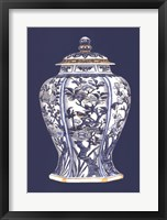 Framed Blue & White Porcelain Vase I