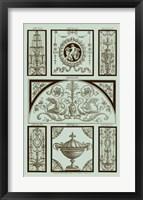 Framed Panel in Celadon III