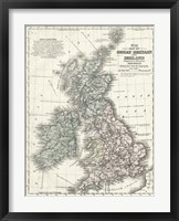 Framed Mitchell's Map of Great Britain & Ireland