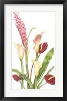 Framed Tropical Bouquet I