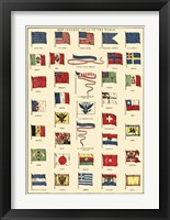 Framed Flags of All Nations I