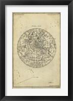 Framed Antique Astronomy Chart I