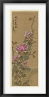 Framed Oriental Floral Scroll III