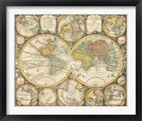 Framed Antique World Globes