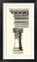 Framed B&W Column & Cornice I