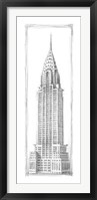 Framed Chrysler Sketch