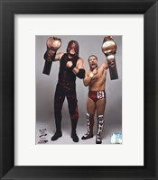 Framed Daniel Bryan & Kane with the Tag Team Championship Belts 2012 Posed