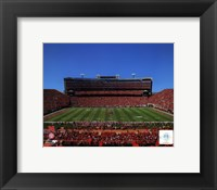 Framed University of Nebraska Cornhuskers Memorial Stadium 2012