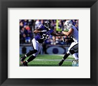 Framed Terrell Suggs 2012 running