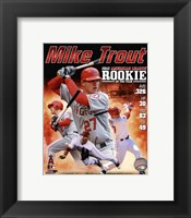 Framed Mike Trout 2012 American League Rookie of the year Composite