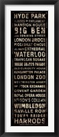 Framed Transit London Black