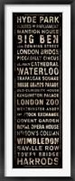 Framed Transit London Black
