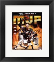 Framed Buster Posey 2012 National League MVP Composite