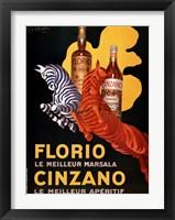 Framed Florio E Cinzano
