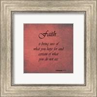 Framed Faith Hebrews 11:1