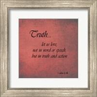 Framed Truth 1 John 3:18