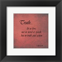 Framed Truth 1 John 3:18