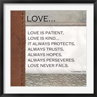 Framed Love is Patient, Love is Kind