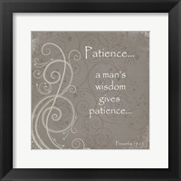 Framed Patience Quote