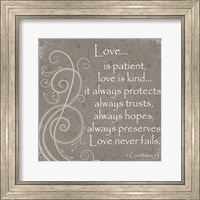 Framed Love Quote