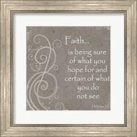 Framed Faith Quote