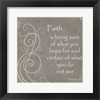 Framed Faith Quote