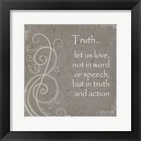 Truth Quote Framed Print