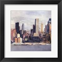 New York Skyline II Framed Print