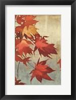 Framed Maple Leaves I - mini