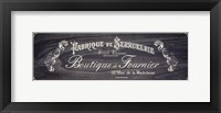 Framed French Elegance - charcoal