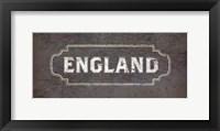 Framed Vintage Sign - England