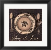 Framed Soup du Jour - mini