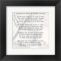 Framed Stopping By Woods On A Snowy Evening - Robert Frost