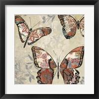 Patterned Butterflies I Framed Print
