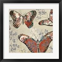 Patterned Butterflies II Framed Print