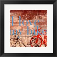 Framed Love my Bike - Mini