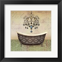 French Vintage Bath I Framed Print