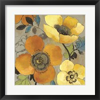 Framed Yellow and Orange Poppies I