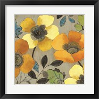 Framed Yellow and Orange Poppies II