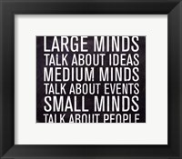 Framed Large Minds - Mini