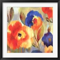 Framed Ikat Florals II