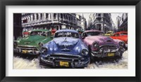 Framed Classic American Cars in Havana