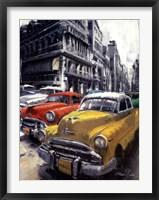 Framed Havana Vintage Classic Cars I