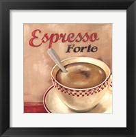 Framed Espresso forte