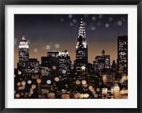 Framed New York Night I