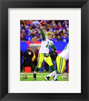 Framed Aaron Rodgers 2012 throwing