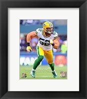 Framed Clay Matthews 2012 Action