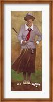 Framed Vintage Woman Golfer