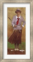Framed Vintage Woman Golfer
